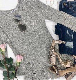 BB Dakota Hang Loose Fringe Sweater