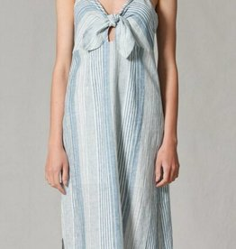 By Together Striped Front tie dress