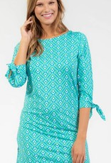 3/4 Sleeve Stretch Knit Sibley Dress