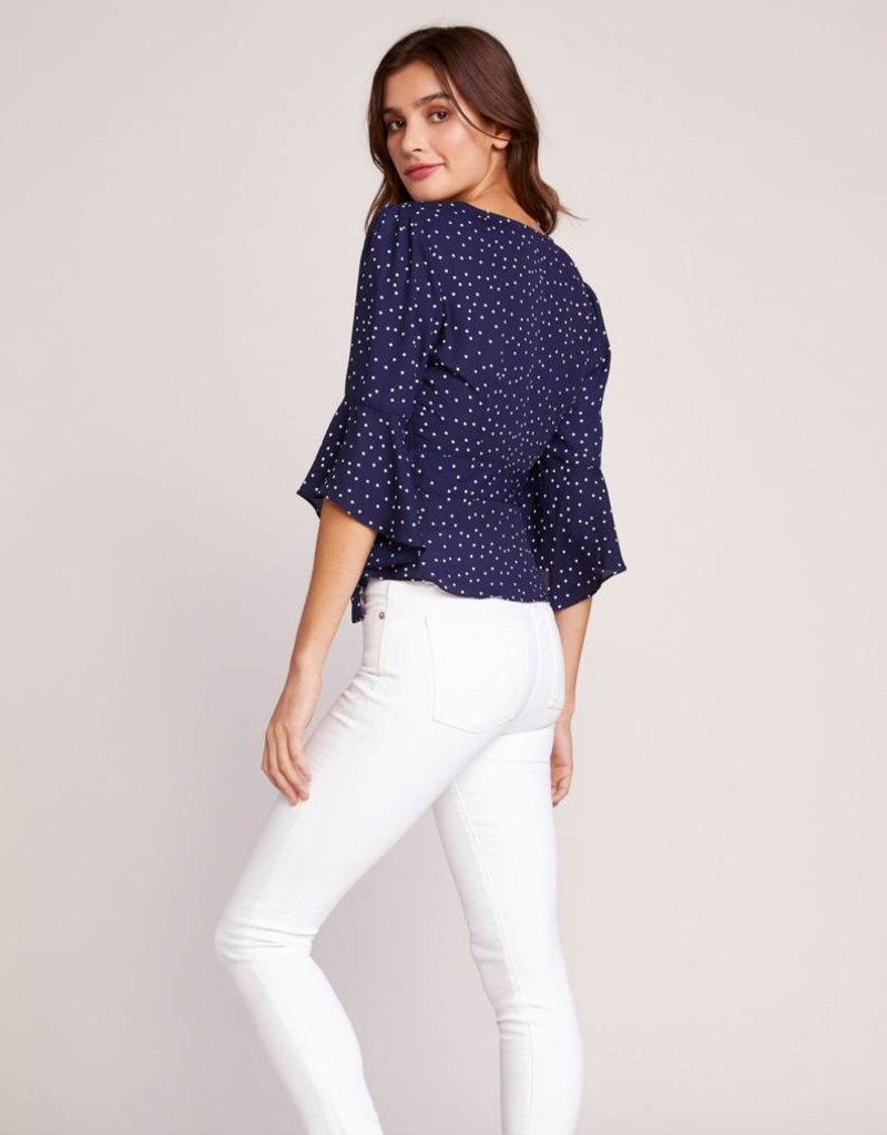 BB Dakota Spot Me Wrap Top