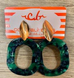 Acrylic Oval Earrings