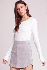 BB Dakota Annette Faux Suede Skirt