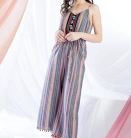 Multicolored Stripe Jumpsuit
