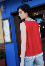 THML Sleeveless Embroidered Tank