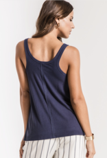 Z Supply Micro Rib Tie-Front Tank