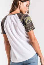 Z Supply Camo Short Sleeve Baseball Tee