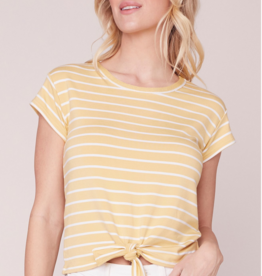 BB Dakota Stripes Ahoy Tie Front Top