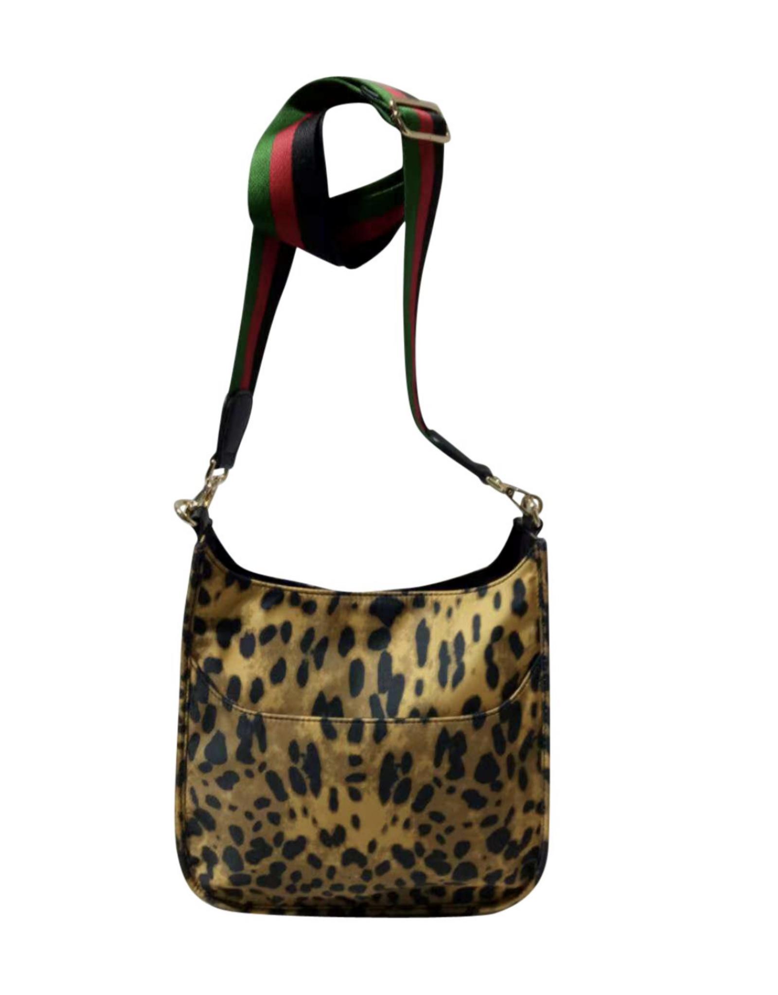 Leopard Print Nylon Messenger