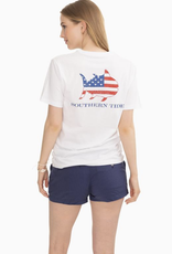 Southern Tide Hearts & Stripes Graphic T-Shirt