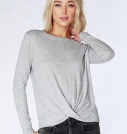 Bobi Long Sleeve Twist Tee