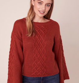 BB Dakota Retro Active Cable Knit Sweater