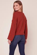 BB Dakota Retro Active Cable Knit Sweater