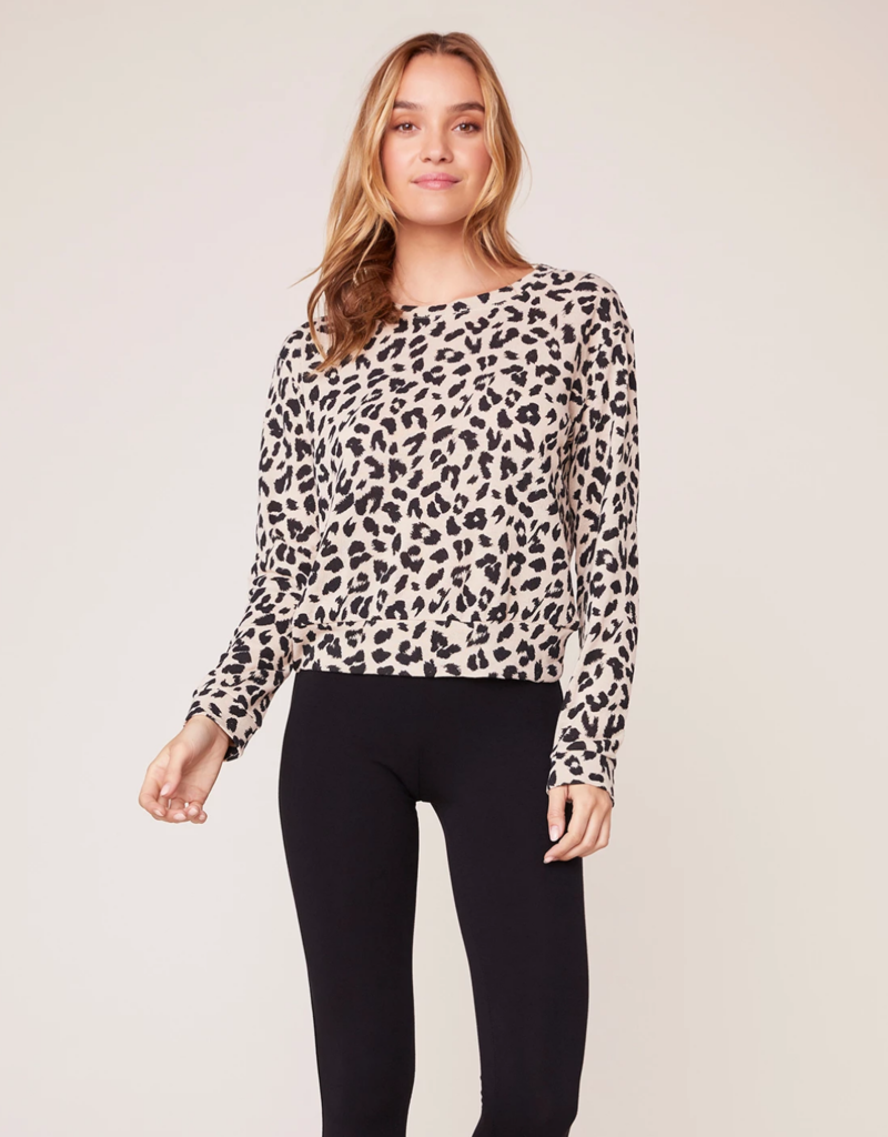 BB Dakota Cat Nap Leopard Sweater