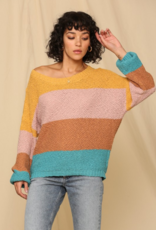 By Together Color Block Striped Sweater