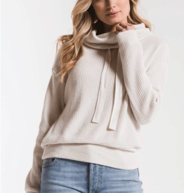 Z Supply Cowl Neck Waffle Thermal Top