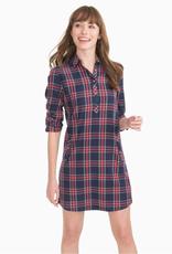 Southern Tide Alyssa Plaid Shirt Dress