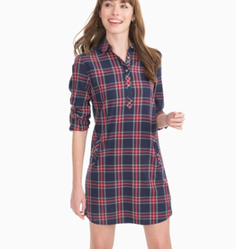 Southern Tide Alyssa Plaid Shirt Dress