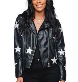 Buddy Love Joplin Faux Leather Star Jacket