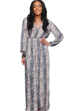 Buddy Love Dolly Elastic Waist Long Sleeved Maxi Dress