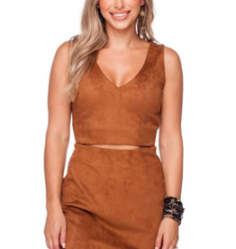 Buddy Love Stevie Fitted Cut Out Suede Dress