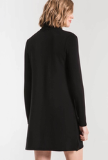 Z Supply Premium Fleece Turtle Neck Dress