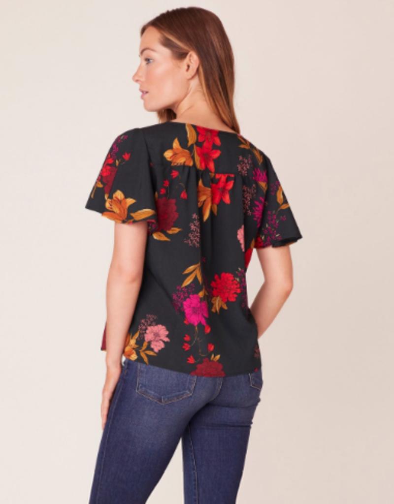 Jack by BB Dakota Moody Blooms Flutter Sleeve Top