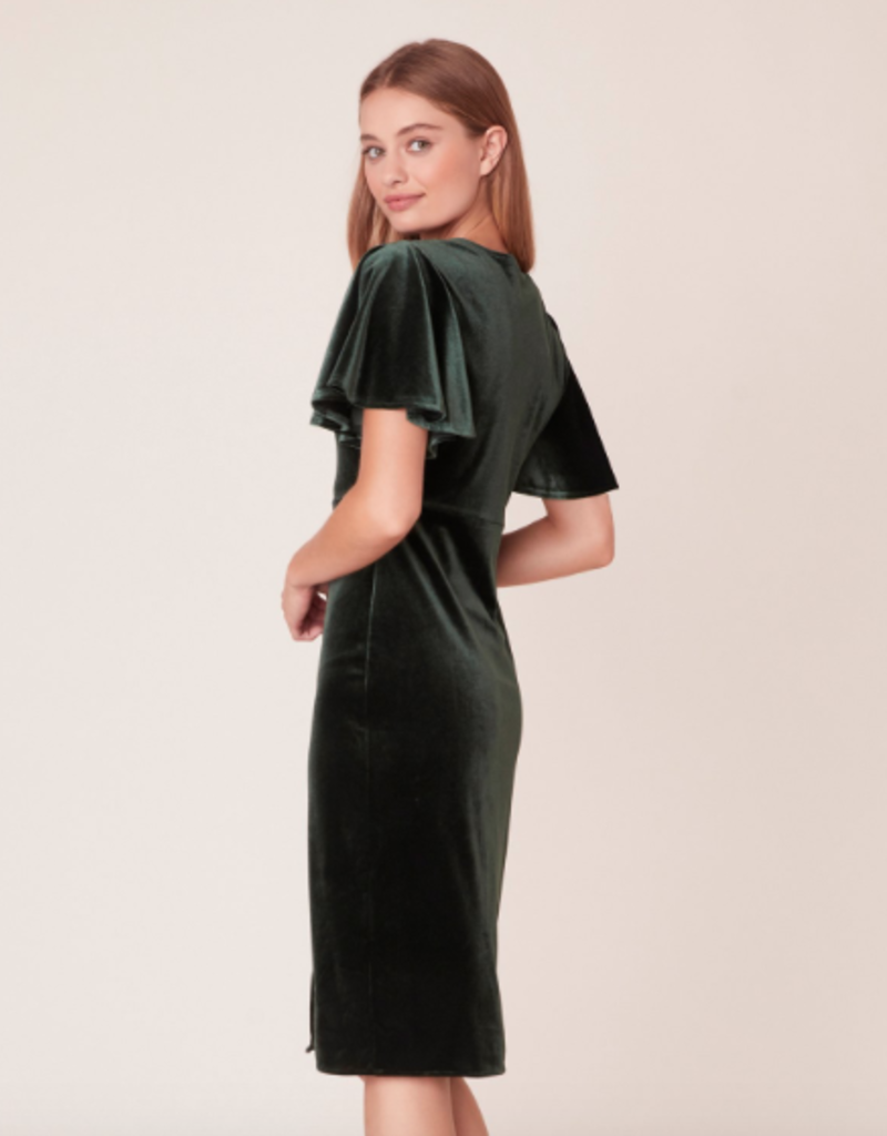 Jack by BB Dakota Round Midnight Velvet Midi Dress