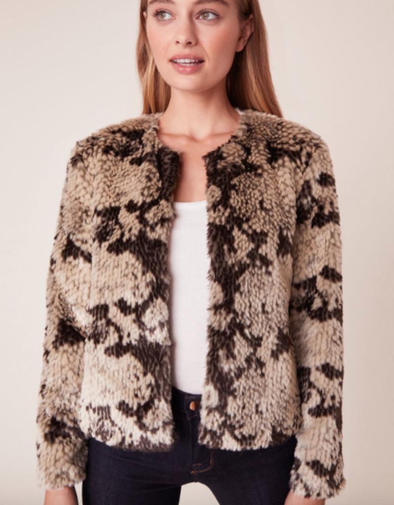 BB Dakota Snake Out Faux Fur Jacket