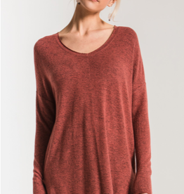 Z Supply Marled Sweater Knit V-Neck Tunic
