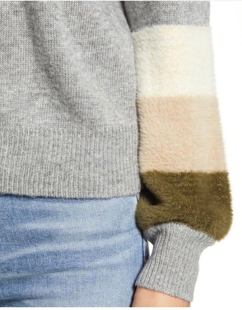Cupcakes & Cashmere Drew Stripe Sleeve Sweater