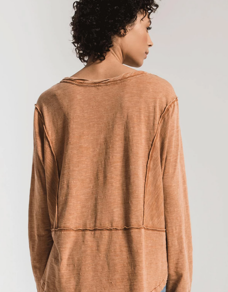 Z Supply Airy Slub Long Sleeve Top