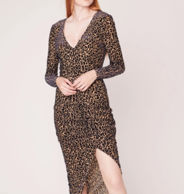BB Dakota Better To Burnout Leopard Velvet Dress