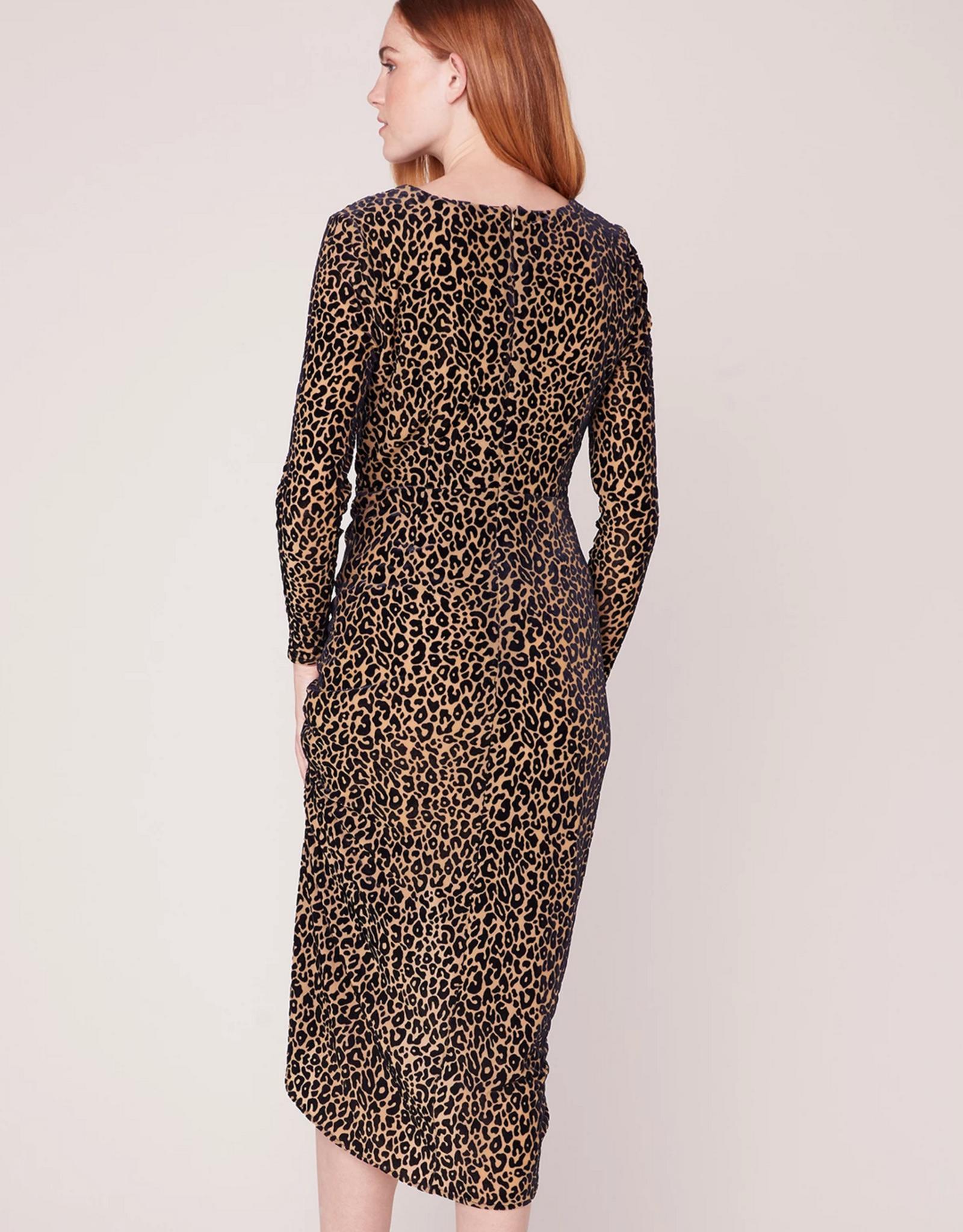 BB Dakota Better To Burnout Leopard Velvet Dress