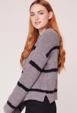 BB Dakota Chenille Deal Stripe Sweater