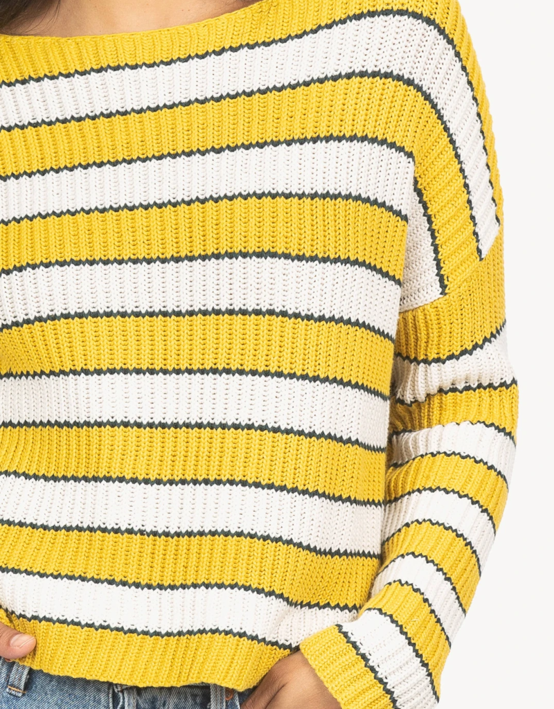 Lilla P Cropped Striped Boatneck