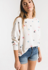 Z Supply Distressed Star Pullover