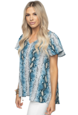 Buddy Love Avril Flutter Sleeve Top