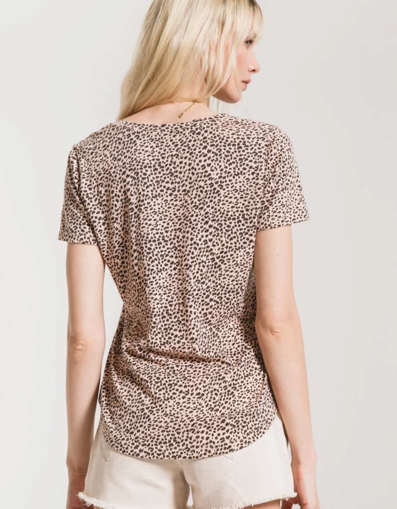 Z Supply Mini Leopard V-Neck Tee