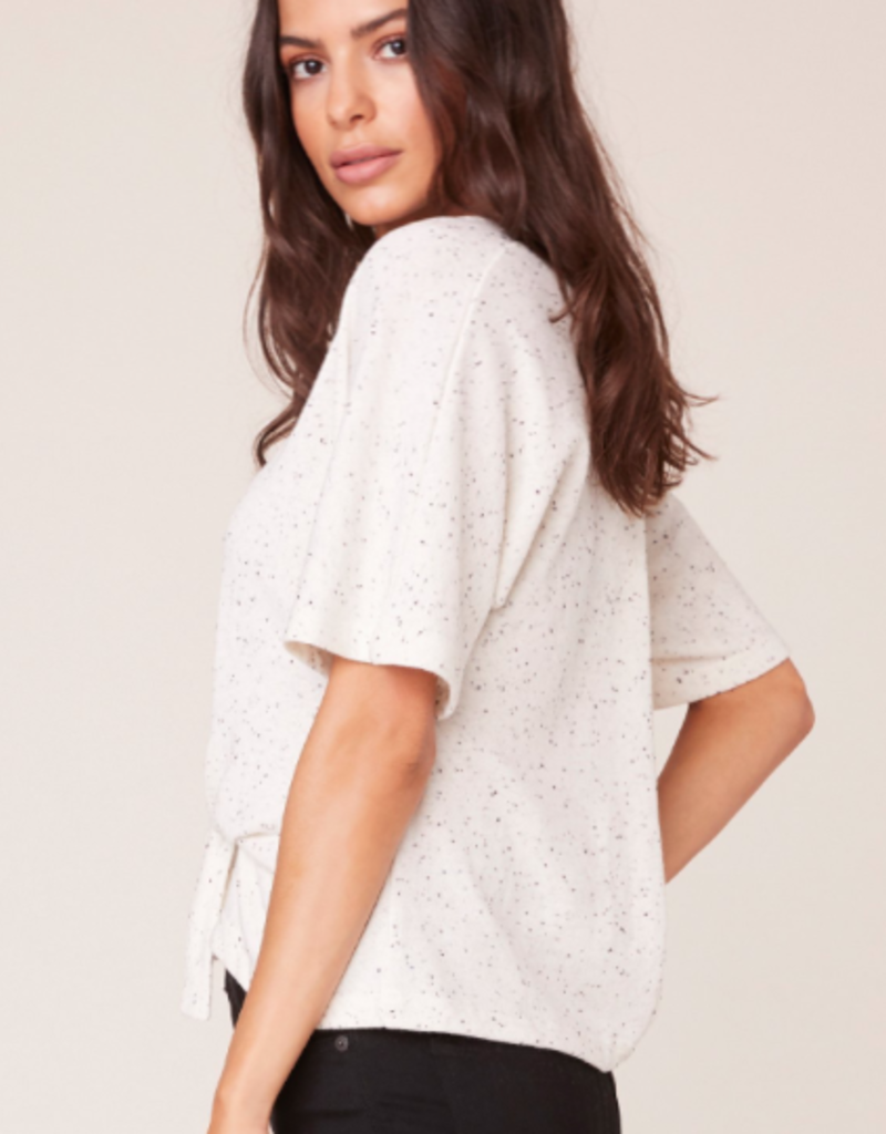 BB Dakota Midnight Speckle Short Sleeve Top