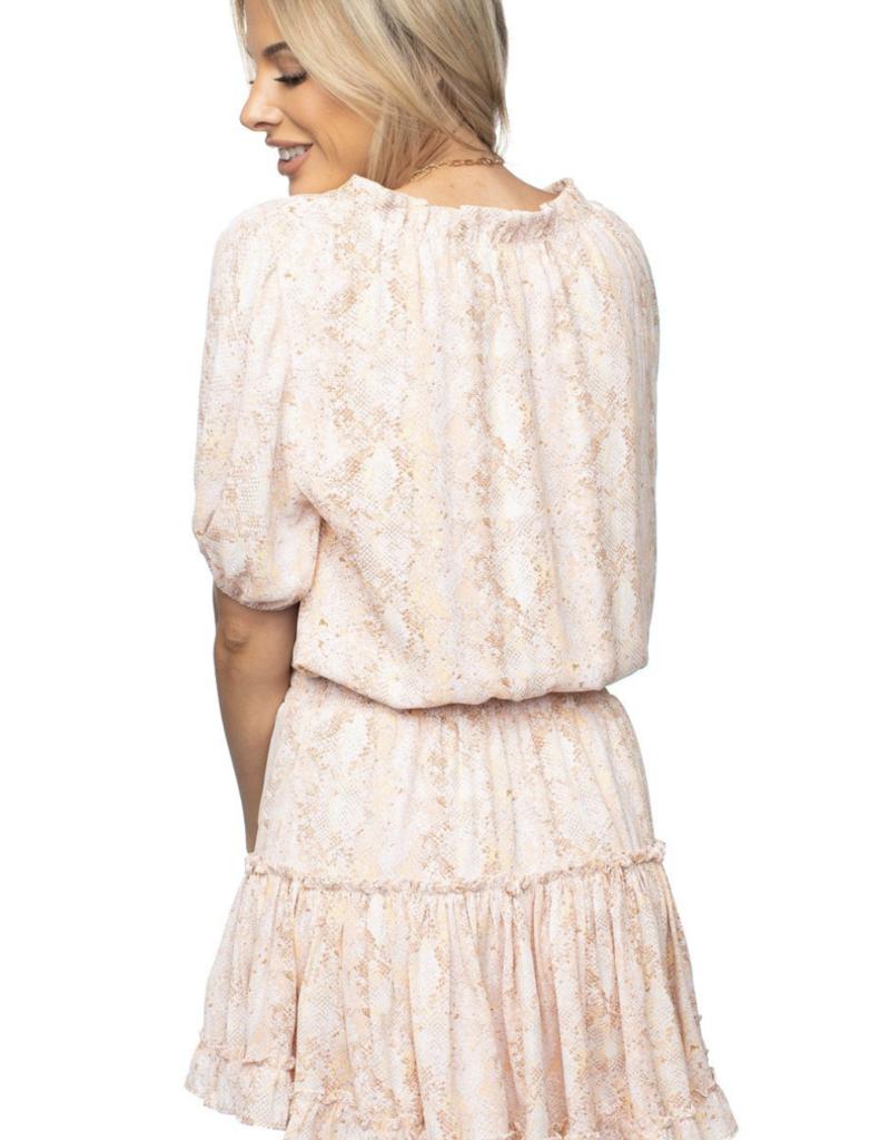 Buddy Love Ray Elastic Waist Mini Dress