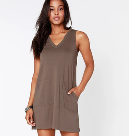 Bobi V-Neck Tank Dress