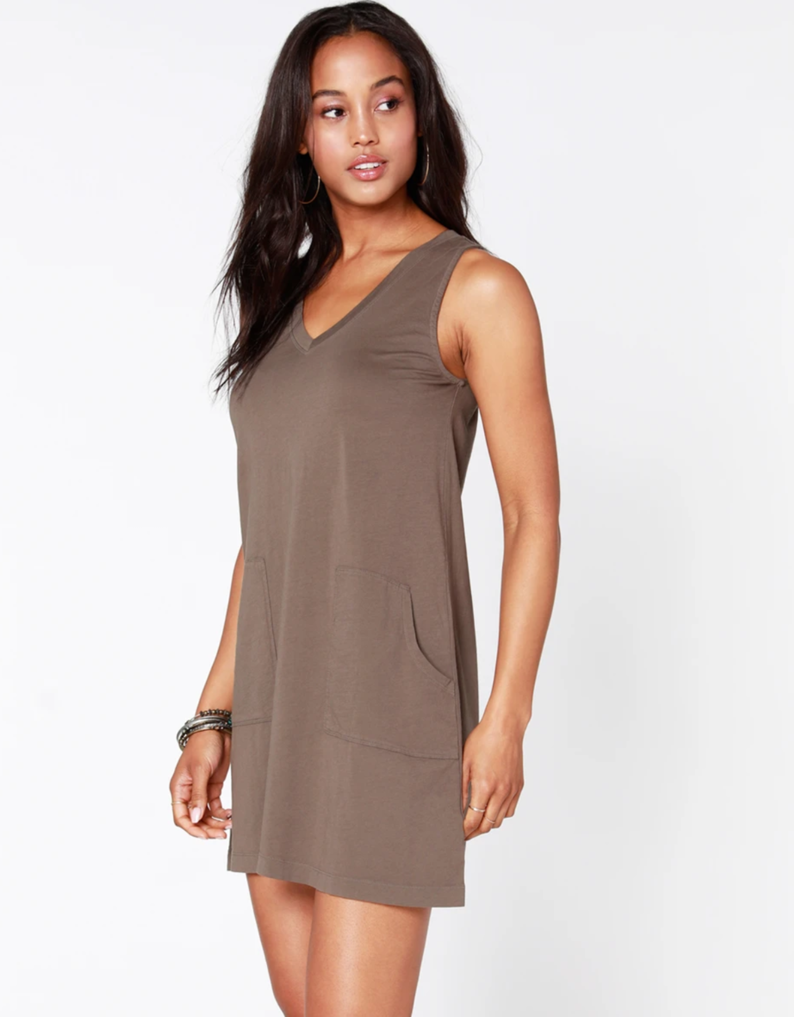 Bobi V-Neck Tank Dress