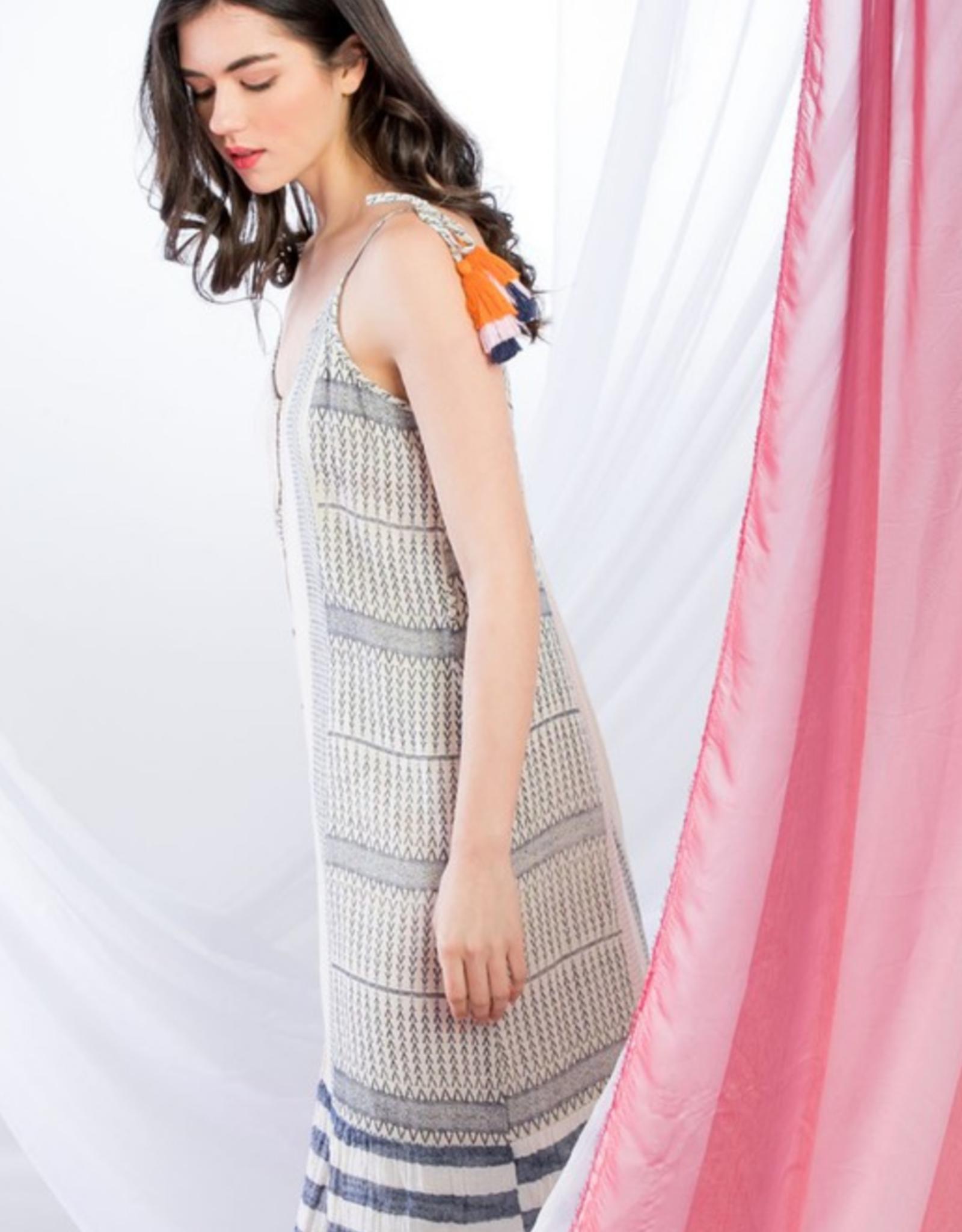 Mixed Button Down Dress