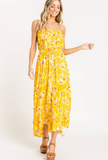 Lush Strapless Printed Dress