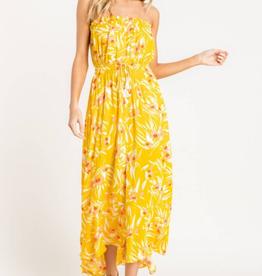 Lush Strapless Printed Dress