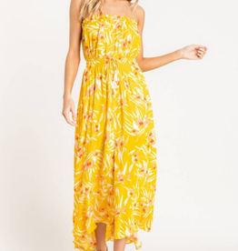 Strapless Printed Dress