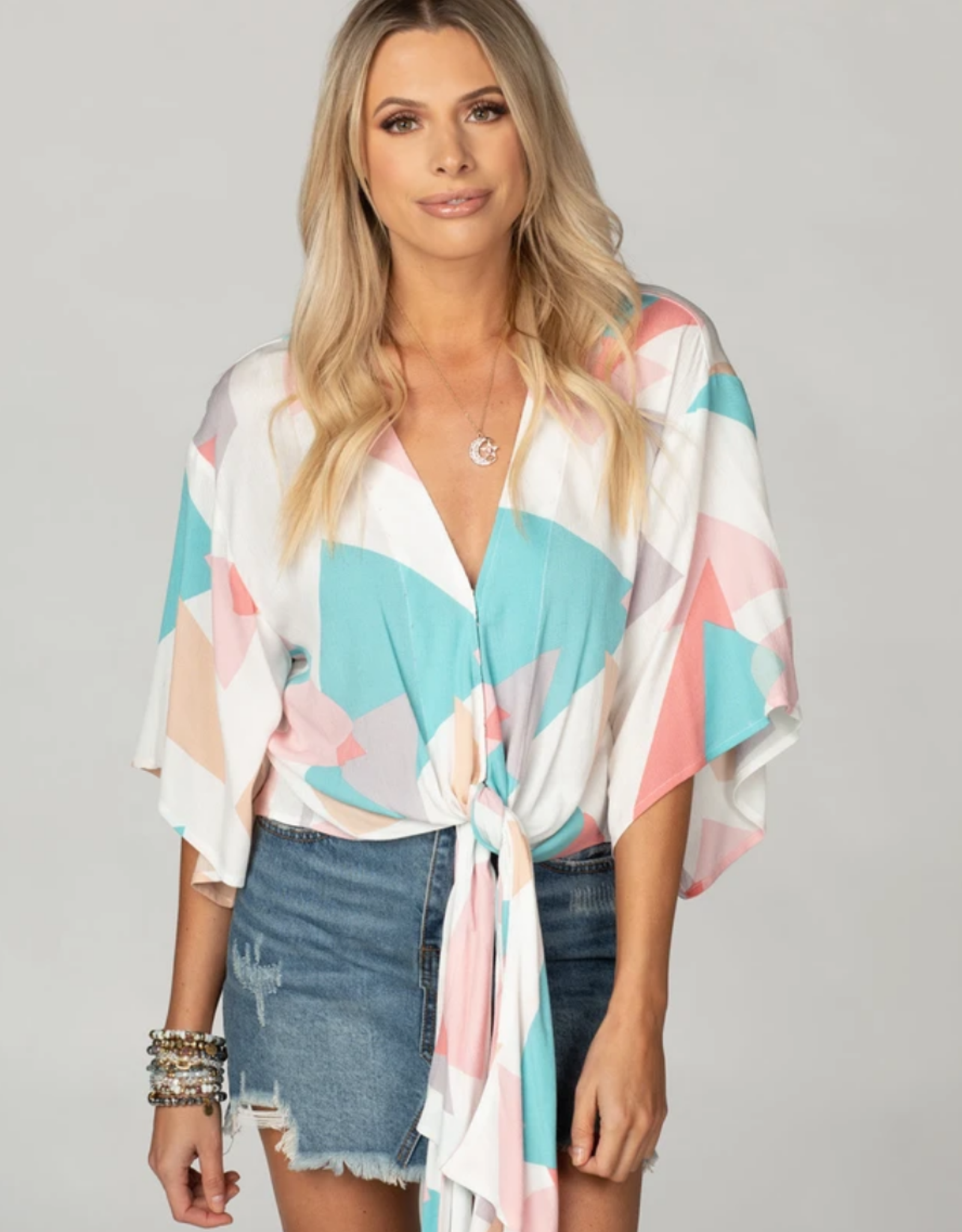 Buddy Love Muse Tie Top Origami