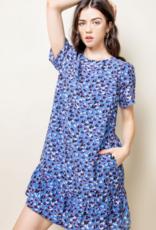 Cheetah Print Short Sleeve Dress