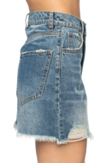 Buddy Love Sharon Distressed Denim Mini Skirt