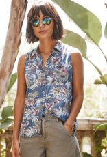 Velvet Heart Carol Tropical Sleeveless Button Up Shirt